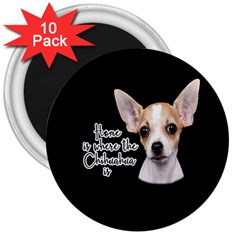 Chihuahua 3  Magnets (10 Pack)  by Valentinaart