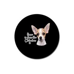 Chihuahua Magnet 3  (round) by Valentinaart