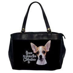 Chihuahua Office Handbags by Valentinaart
