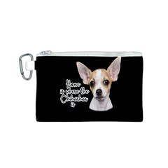 Chihuahua Canvas Cosmetic Bag (s) by Valentinaart