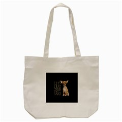 Chihuahua Tote Bag (cream) by Valentinaart