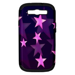 Background With A Stars Samsung Galaxy S Iii Hardshell Case (pc+silicone) by Nexatart