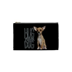 Chihuahua Cosmetic Bag (small)  by Valentinaart