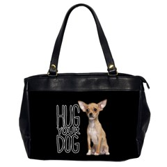 Chihuahua Office Handbags (2 Sides)  by Valentinaart