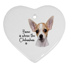 Chihuahua Ornament (heart) by Valentinaart