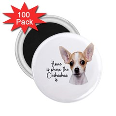 Chihuahua 2 25  Magnets (100 Pack)  by Valentinaart