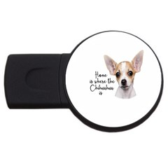 Chihuahua Usb Flash Drive Round (4 Gb) by Valentinaart