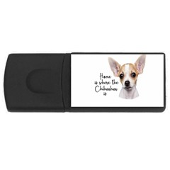 Chihuahua Usb Flash Drive Rectangular (4 Gb) by Valentinaart