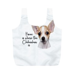 Chihuahua Full Print Recycle Bags (m)  by Valentinaart