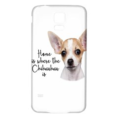 Chihuahua Samsung Galaxy S5 Back Case (white) by Valentinaart