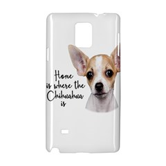 Chihuahua Samsung Galaxy Note 4 Hardshell Case by Valentinaart