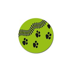 Green Prints Next To Track Golf Ball Marker (4 pack)