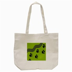 Green Prints Next To Track Tote Bag (cream) by Nexatart