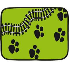 Green Prints Next To Track Fleece Blanket (mini) by Nexatart