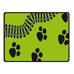 Green Prints Next To Track Fleece Blanket (small) by Nexatart