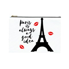 Paris Cosmetic Bag (large)  by Valentinaart