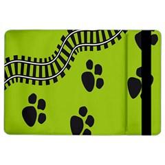 Green Prints Next To Track Ipad Air 2 Flip by Nexatart