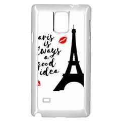 Paris Samsung Galaxy Note 4 Case (white) by Valentinaart