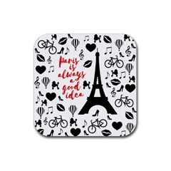 Paris Rubber Coaster (square)  by Valentinaart
