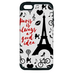 Paris Apple Iphone 5 Hardshell Case (pc+silicone) by Valentinaart