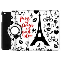 Paris Apple Ipad Mini Flip 360 Case by Valentinaart