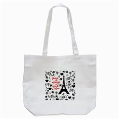 Paris Tote Bag (white) by Valentinaart