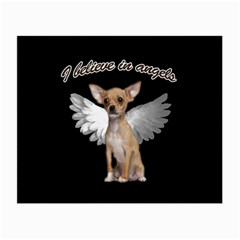 Angel Chihuahua Small Glasses Cloth by Valentinaart