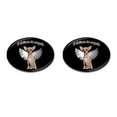 Angel Chihuahua Cufflinks (oval) by Valentinaart