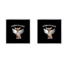 Angel Chihuahua Cufflinks (square) by Valentinaart