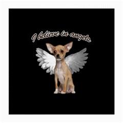 Angel Chihuahua Medium Glasses Cloth by Valentinaart