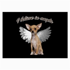 Angel Chihuahua Large Glasses Cloth by Valentinaart