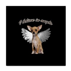 Angel Chihuahua Face Towel by Valentinaart