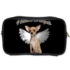 Angel Chihuahua Toiletries Bags by Valentinaart