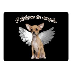 Angel Chihuahua Fleece Blanket (small) by Valentinaart