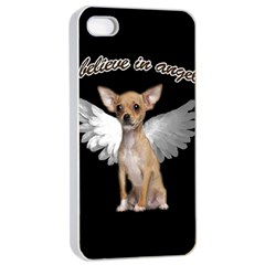 Angel Chihuahua Apple Iphone 4/4s Seamless Case (white) by Valentinaart