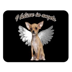 Angel Chihuahua Double Sided Flano Blanket (large)  by Valentinaart