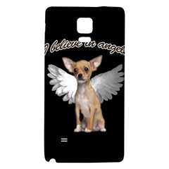 Angel Chihuahua Galaxy Note 4 Back Case by Valentinaart