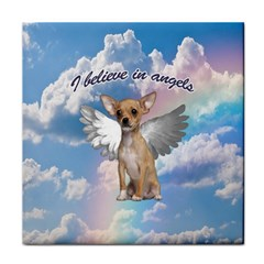 Angel Chihuahua Tile Coasters by Valentinaart