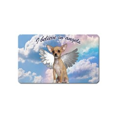 Angel Chihuahua Magnet (name Card) by Valentinaart