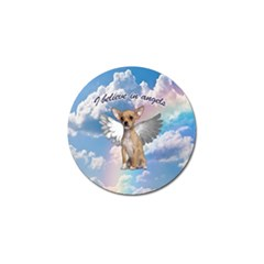 Angel Chihuahua Golf Ball Marker by Valentinaart