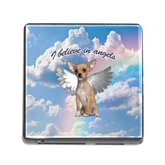 Angel Chihuahua Memory Card Reader (square) by Valentinaart