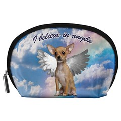 Angel Chihuahua Accessory Pouches (large)  by Valentinaart
