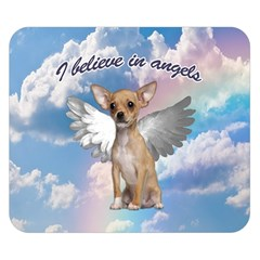 Angel Chihuahua Double Sided Flano Blanket (small)  by Valentinaart