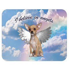 Angel Chihuahua Double Sided Flano Blanket (medium)  by Valentinaart