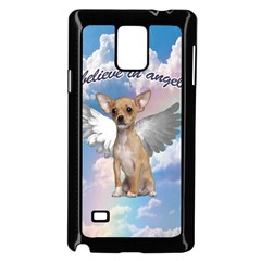 Angel Chihuahua Samsung Galaxy Note 4 Case (black) by Valentinaart
