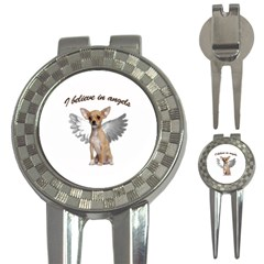 Angel Chihuahua 3 In 1 Golf Divots by Valentinaart