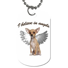 Angel Chihuahua Dog Tag (two Sides) by Valentinaart