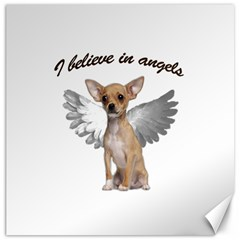 Angel Chihuahua Canvas 16  X 16   by Valentinaart