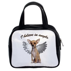Angel Chihuahua Classic Handbags (2 Sides) by Valentinaart