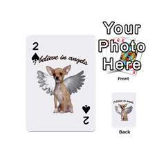 Angel Chihuahua Playing Cards 54 (mini)  by Valentinaart